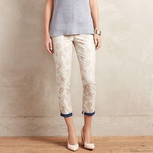 Anthropologie Cartonnier Jacquard Charlie Trousers